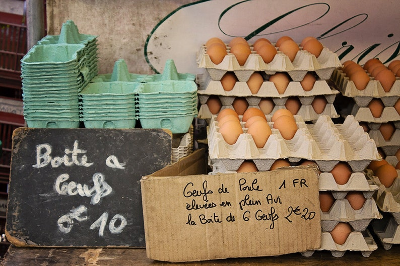 Food Photography Paris Market Fresh from the Farm Eggs brown image 0