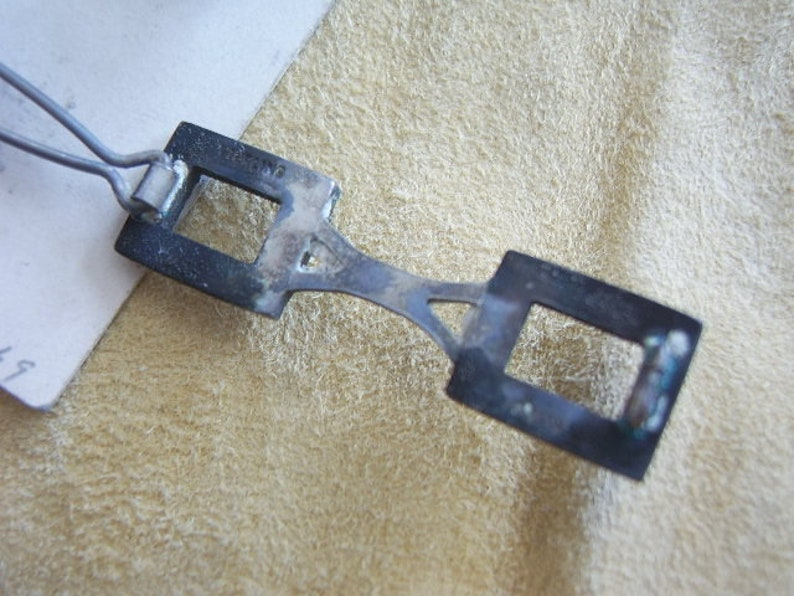 NOS 3 Sterling Ladies Barrettes or Hair Clips on original display card