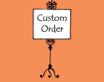 DEPOSIT - Custom Order to make a Deposit - Custom Silhouette Proof - Trending