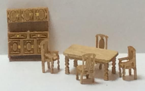 1 144th Inch Scale Furniture Kits Country Style Dining Room Etsy