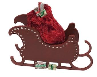 1:48 Quarter Inch Scale Santa's Sled Kit & Santa's bag