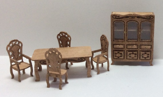 Quarter Inch Scale Victorian Style Dining Room Furniture Kit Etsy