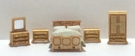 1:144th Inch Scale Furniture Kits Traditional Style Bedroom