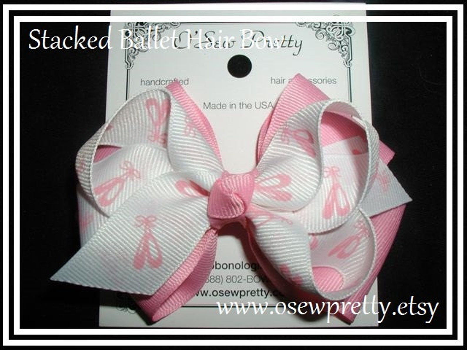 ballet hair bow, dance hair bows, stacked ballerina hair bows, pink ballet hair bows, ballerina hair bows, ballet toe shoe, pink