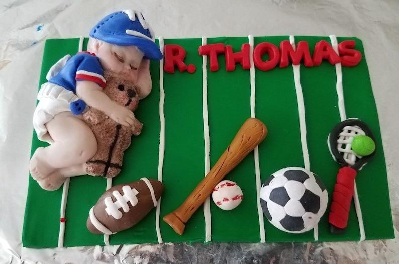 Miraculous Giant Football Sports Baby Boy Cake Topper Raiders Football Etsy Funny Birthday Cards Online Inifofree Goldxyz
