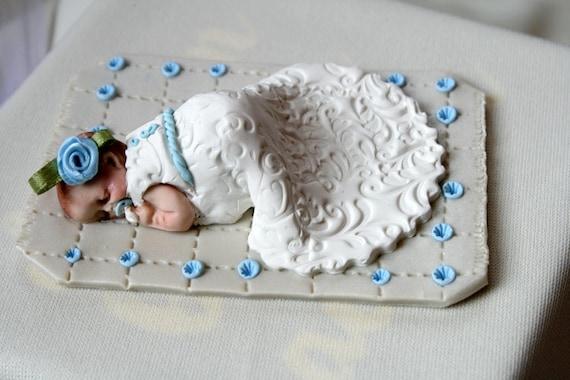Baby Girl Boy Christening Cake Topper Baby Shower Polymer Clay Baptism Cake Topper Christening Baby Gift Baby Baptism Keepsake Ornament