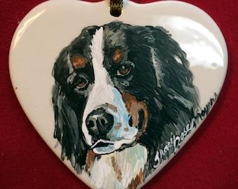 Pet memorial ornament, heart ornament, pet memorial, pet ornament, heart shape ornaments, memorial ornaments, dog ornament, custom ornaments