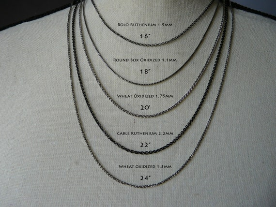 Sterling Silver Oxidized Diamond Cut 1mm Rounded Box Chain Necklace