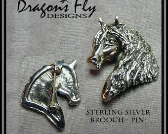 Gypsy Horse Brooch Pin Gypsy Cob Brooch Pin Horse Jewelry Gypsy Jewelry Gypsy Stock Pin Equine Horse Head Pendant Gypsy Vanner