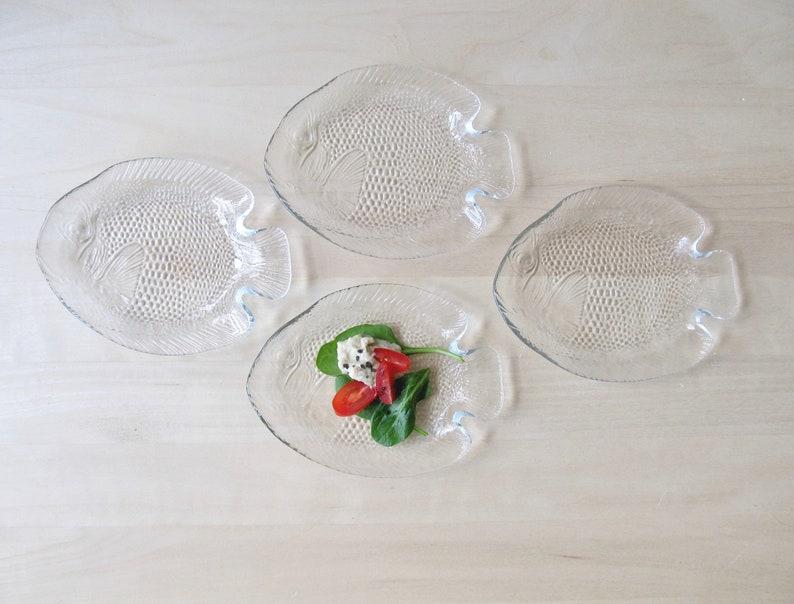 fish plates acroroc poisson france pisces glass seafood appetizer dish