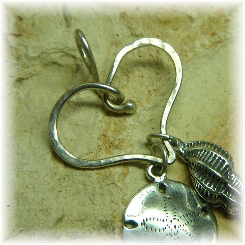 Sterling Silver Thick Organic Heart Shaped Silver Charm Holder for Your Own Charms Handmade to Order Choose Your Finish