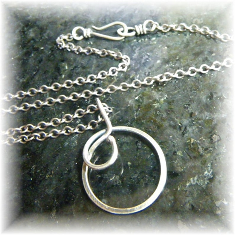 Sterling Silver Chain E with Sterling Clasp 18 Inch Made to image 0