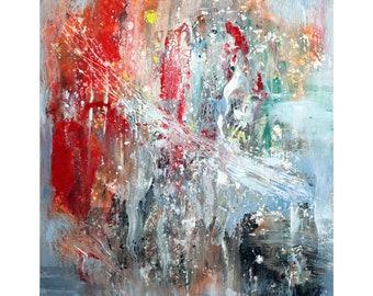 Happy Music Original Abstract Painting Modern Artwork by Luiza Vizoli