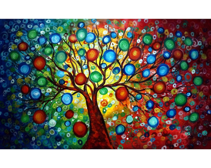 Seasons of Joy 60x36 Inner Beauty Large Stretched Canvas Art by Luiza Vizoli