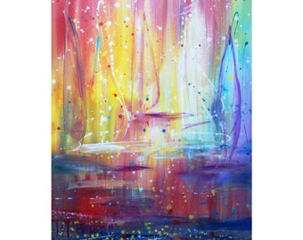 SUNSET Ocean Sailboats Boats Original Painting on canvas perfect gift for beach house, lake cabin, travelling agency office art