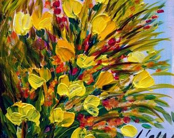 SPRING BOUQUET Impasto Oil Flowers Painting by Luiza Vizoli Custom painting
