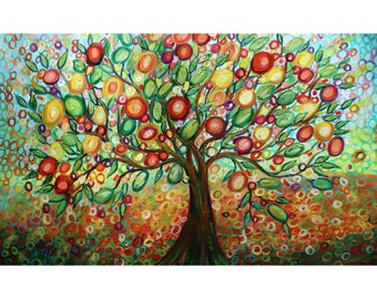 OLIVE HARVEST Original Painting Mediterranean Earthy Warm Tones Colors Large Canvas Art by Luiza Vizoli