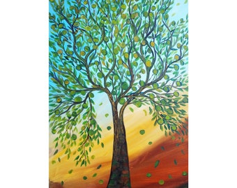 OLIVE TREE of Balance peace friendship hope harmony victory and WISDOM, art for business, office wall decor