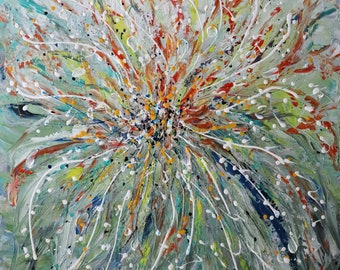 Abstract Expressionism PERFECT IMPERFECTION Inspired by Rain Large Original Painting Art by Luiza Vizoli 40x30