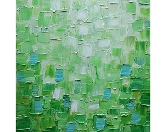 Abstract Green Painting FRESH GRASS Original One of a Kind Artwork ready to ship