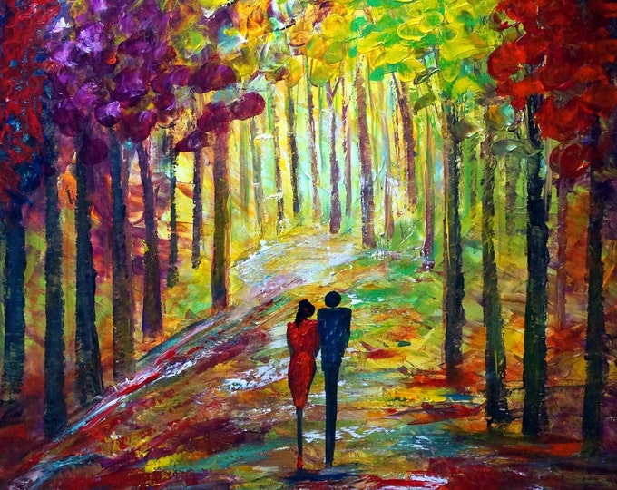 Sunset ROMANCE Seasons Fall in Love with AUTUMN Sunset ROMANCE Large Landscape