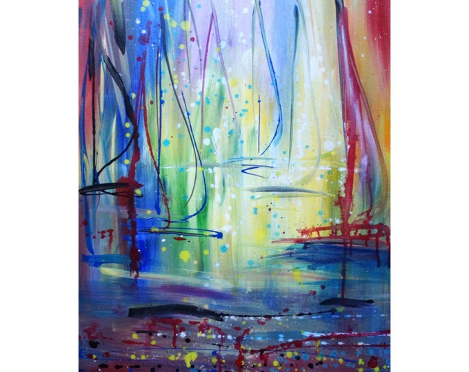 SAILBOATS Morning Seascape Shore  for your beach house, lake cabin or your sailing business Original Painting on canvas