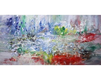 CITY LIGHTS Abstract Original Painting Modern Art for Business Office  Wall Decor