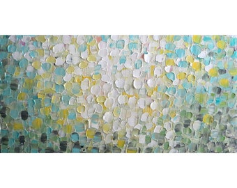 SPRING PETALS Soft TOUCH Colors Abstract Flower Original Painting Neutral Pastel Colors Large Canvas, 36X60, 48X24