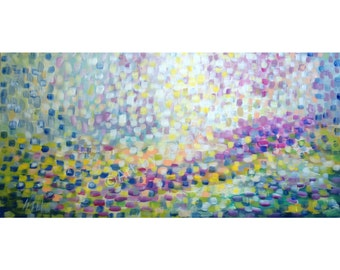 Tuscany HILLS Original Handmade OIL Painting, Abstract Landscape Large Canvas Modern Art