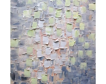 Abstract Painting Sweet Lavender Textured Original Art Palette Impasto