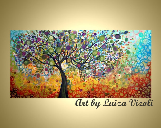 OLIVE Tree of LIFE Abstract Modern Living Room Art HUGE Original Painting Custom Landscape Single Canvas , different sizes available