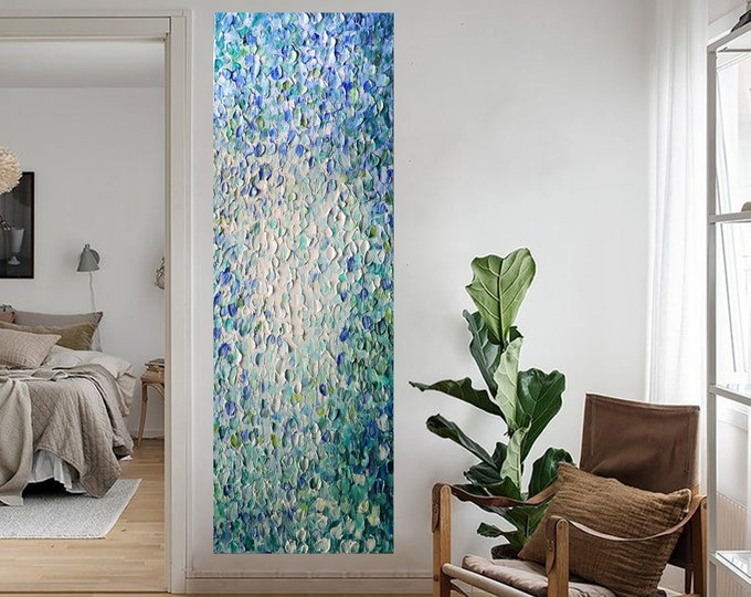 Running Water Tall Vertical or Horizontal Canvas ORIGINAL PAINTING extra large canvases available