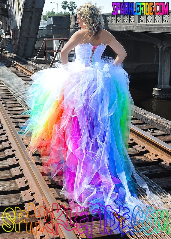 Vivid Rainbow Wedding Dress | Etsy