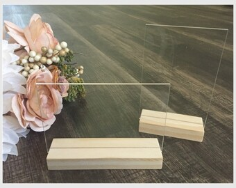 Acrylic Blank Signs and Stands - DIY Acrylic Sign - Acrylic Wedding Sign Blanks -  Acrylic Table Number Signs