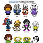 UNDERTALE- CUSTOM Perler Fuse Bead Sprite Pixel Art Figures with stand