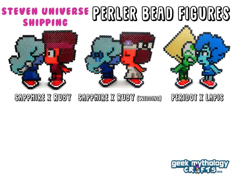 Steven Universe Figures  Kissing Shipping Fuse Bead Sprite image 0