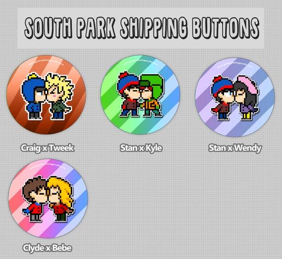 South Park Shipping Buttons 15 Pixel Art Pins