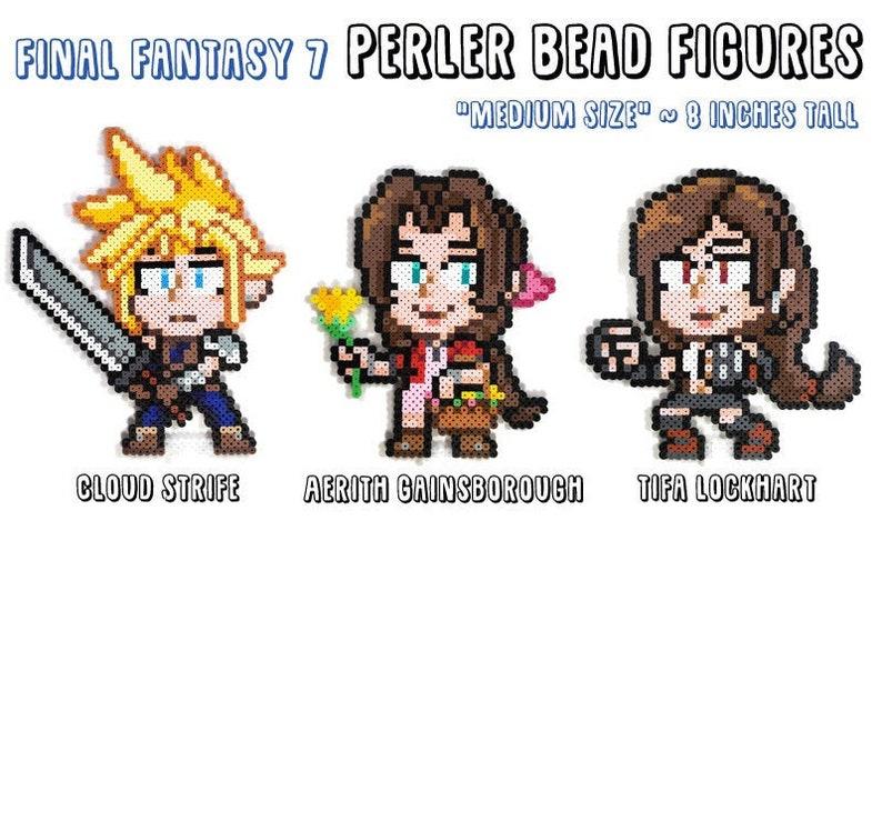 Final Fantasy VII 7  Cloud Aerith Tifa  MEDIUM 8 inch Fuse image 0