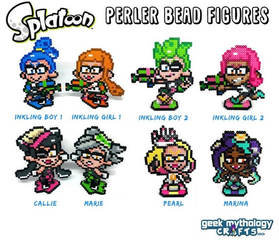 Splatoon Perler Figures Inkling Boy And Girl Callie Marie Etsy