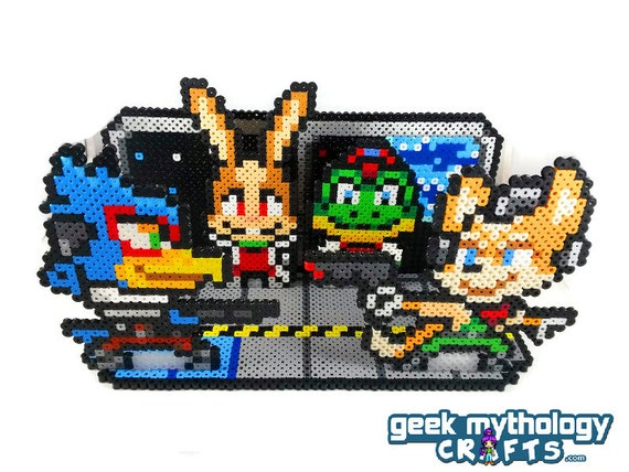 Star Fox Nintendo Perler Bead Sprite 3d Scene Collage Etsy