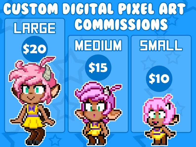 Digital Pixel Art Commissions  3 Pixel Art Styles  You Pick image 0