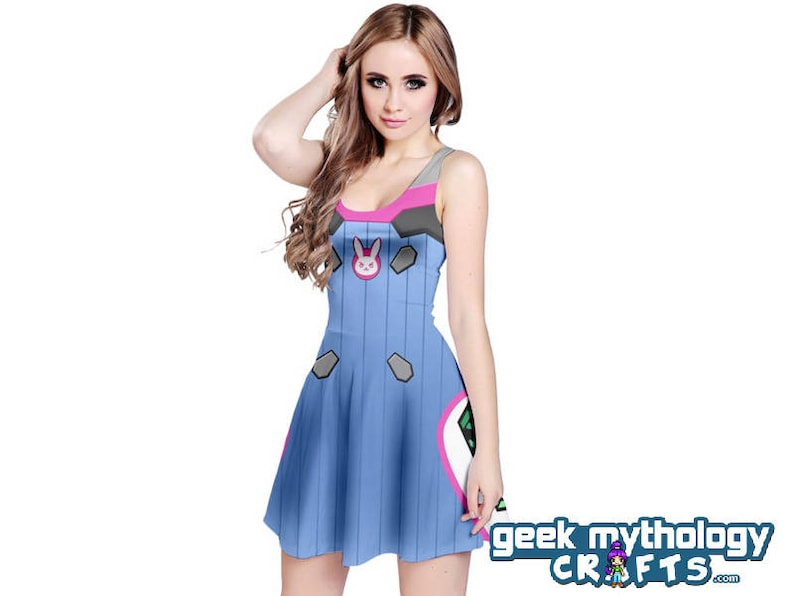 DVa Cosplay Dress Overwatch Inspired Sleeveless PREORDER image 0