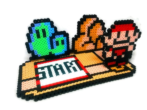Super Mario 3 Overworld Perler Bead Sprite 3d Scene Collage Etsy