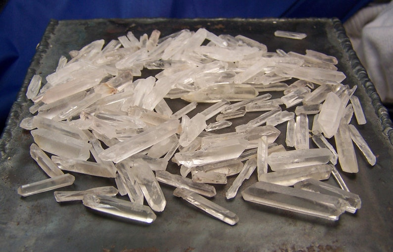 Quartz Crystal Points  100 grams  raw rough crystals  clear image 0