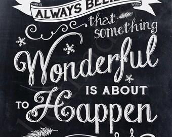 PRINTABLE Something Wonderful Chalkboard PDF 8x10