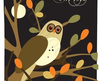 PRINTABLE Owl Love PDF 8x10