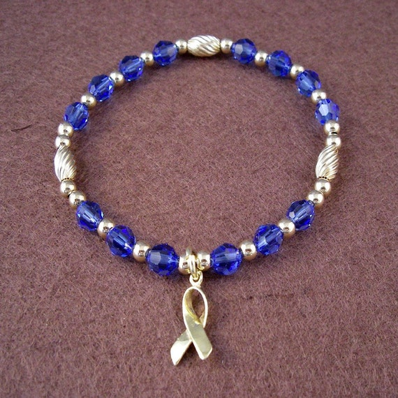 Colon Cancer Awareness Bracelet Swarovski Austrian Crystals Etsy