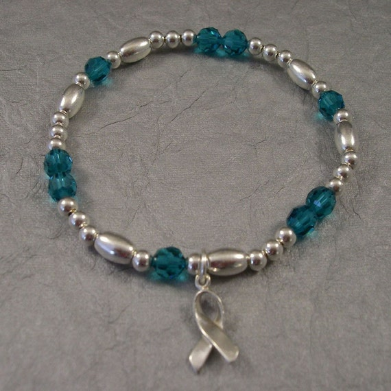 Cervical And Ovarian Cancer Awareness Bracelet Swarovski Etsy