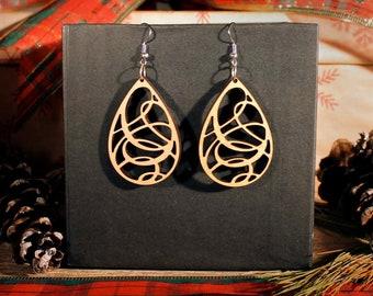 Stacey Hardwood Earrings