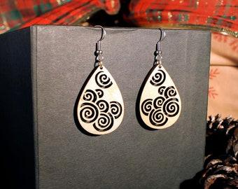Lucy Hardwood Earrings
